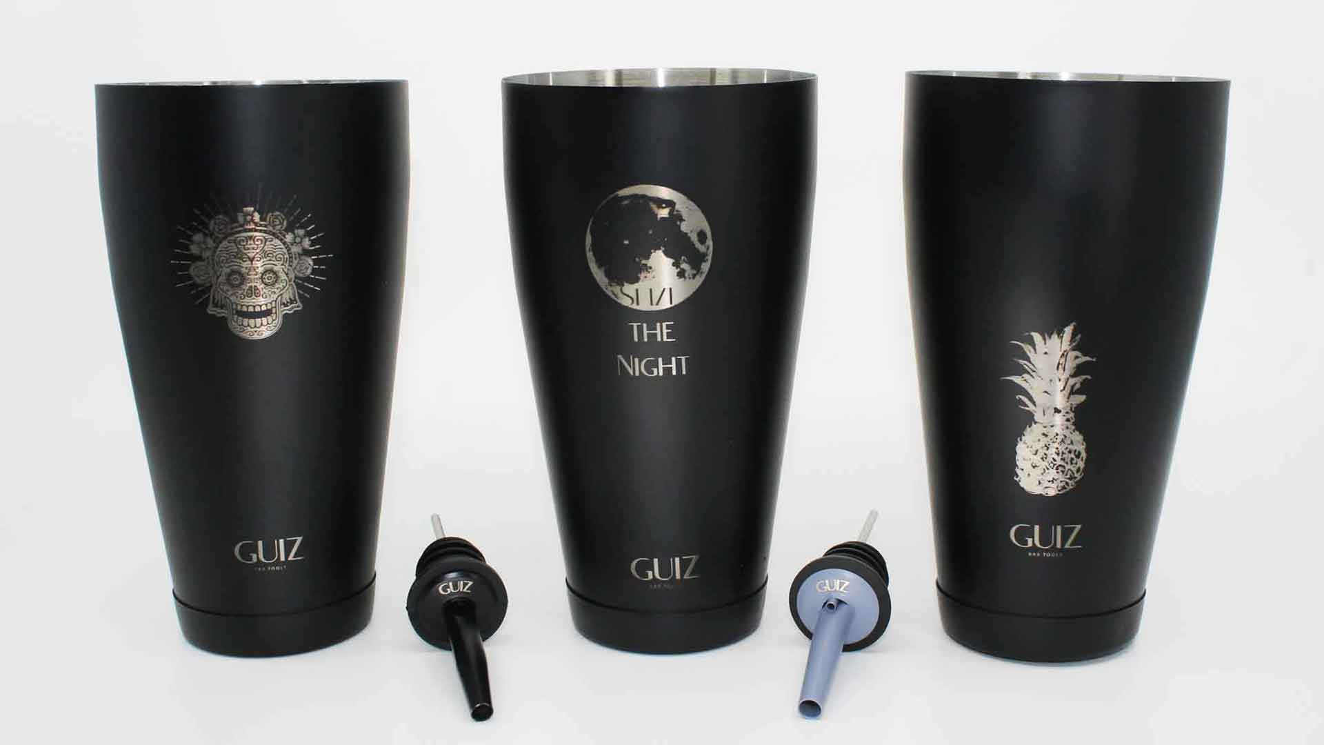 Guiz Bar Tools all three Shaker