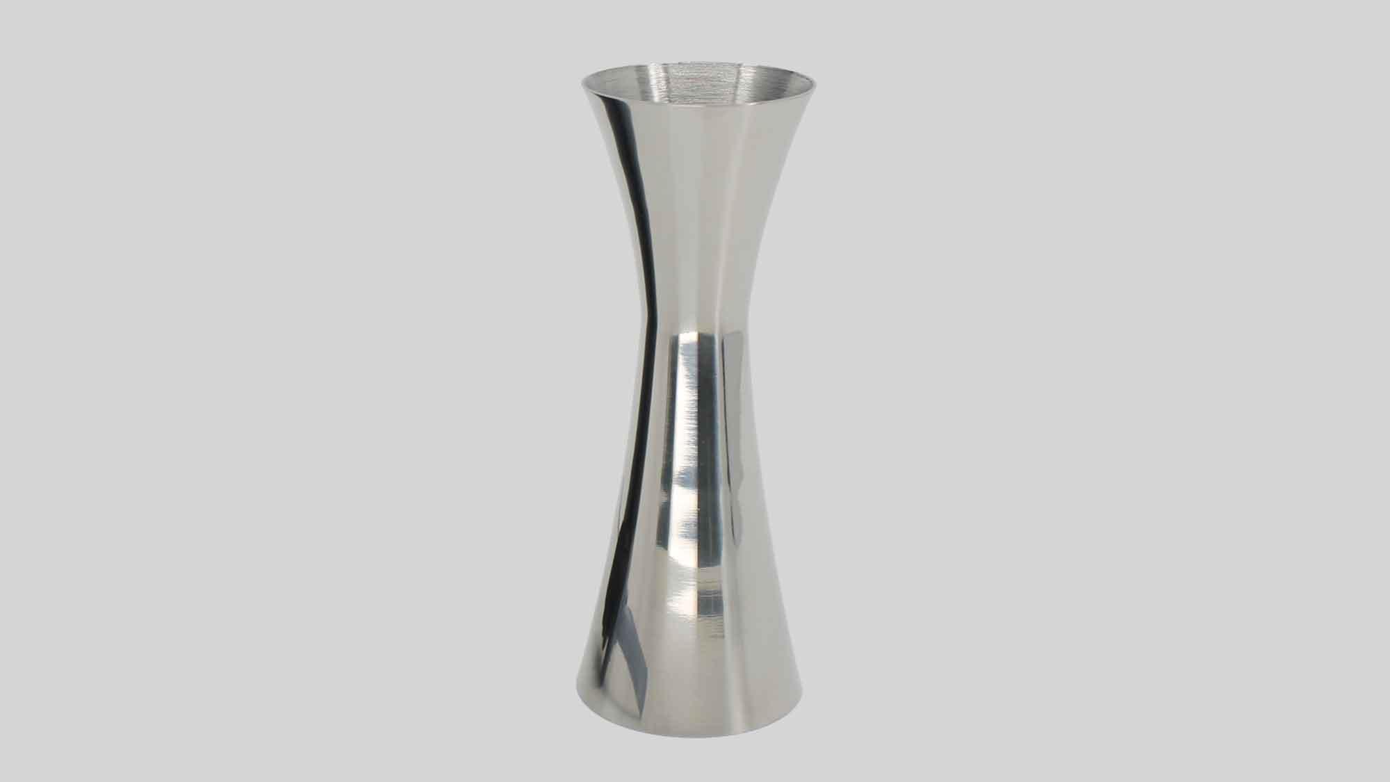 Double jigger 25/25ml shiny silver