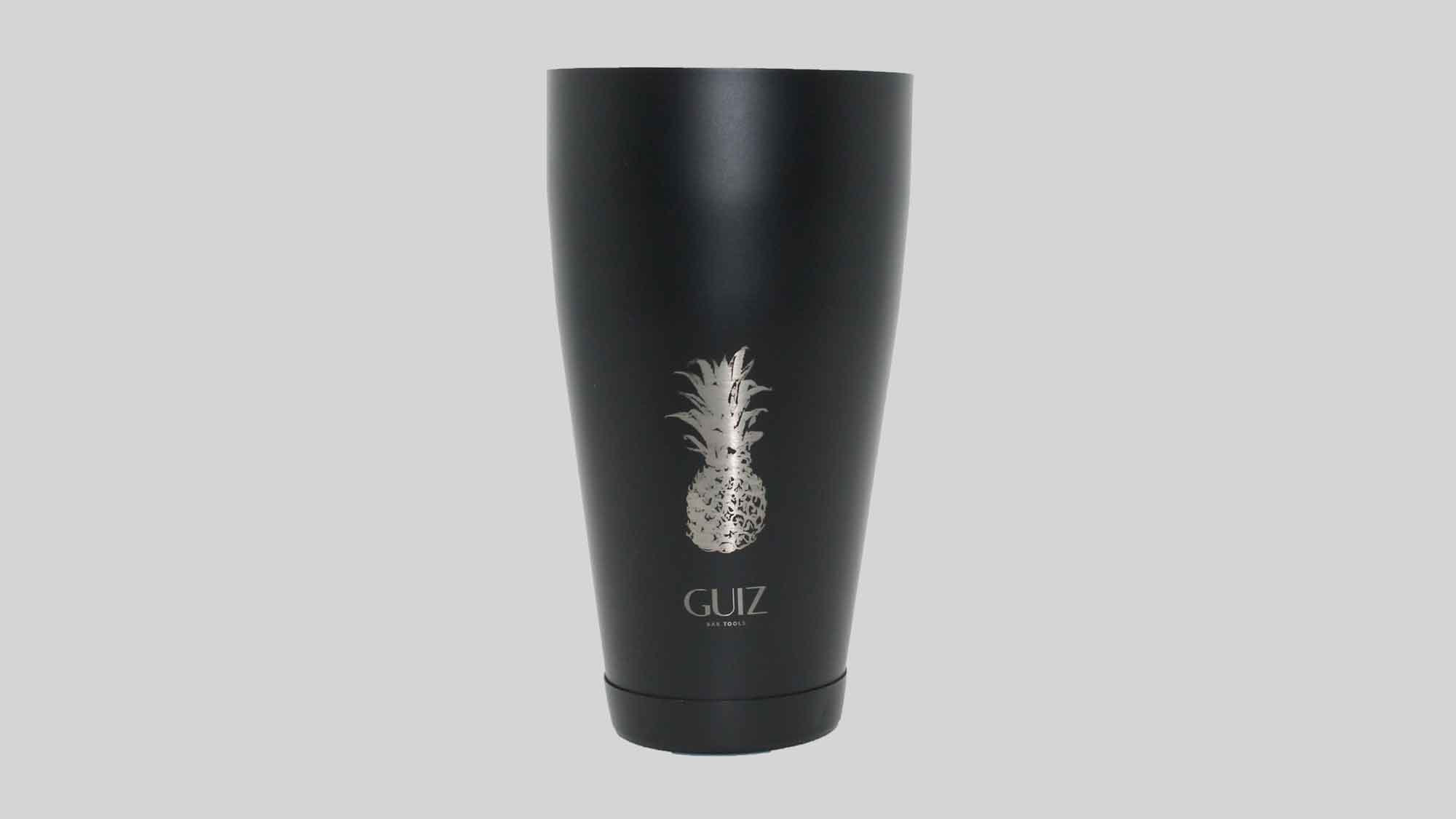 Two-piece Boston shaker Pineapple – Limited Edition laser engraved silver color