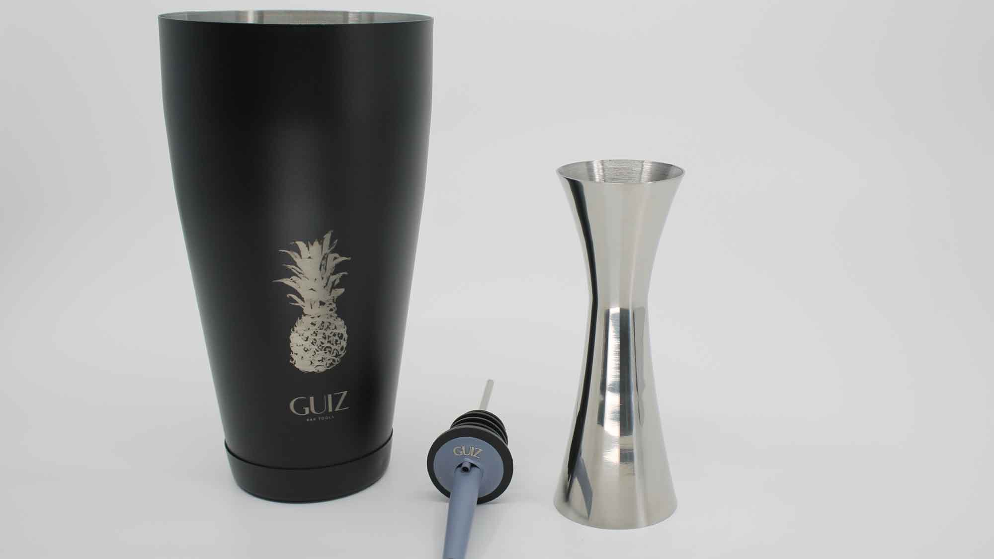 Two-piece Boston shaker Pineapple – Limited Edition and double Jigger 25ml/50ml